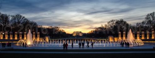 World War II and Lincoln Memorials, Washington D.C.