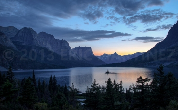 St. Mary's Lake and Wild Goose Island, Glacier NP, MT