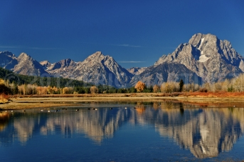 Mt. Moran from Oxbow Bend, Grand Teton NP,