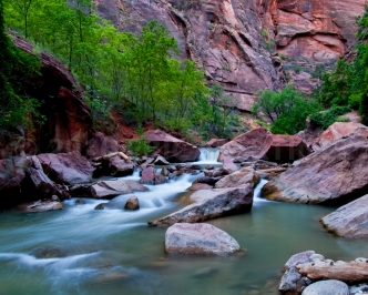 Virgin River, Zion NP, UT