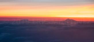 Denali and Mt. Foraker above the clouds, Alaska